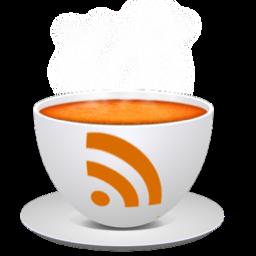 Immagine del feed rss stampata in una tazza bianca per la colazione