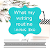 Writing Wednesdays: What my writing routine looks like