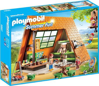 TOYS : JUGUETES - PLAYMOBIL Summer Fun : Vacaciones  6887 Gran Casa de Campamento de vacaciones : Camping  Producto Oficial 2016 | Edad: 4-10 años  Comprar en Amazon España