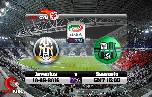 مشاهدة مباراة يوفنتوس وساسولو اليوم 10-9-2016 في الدوري الإيطالي