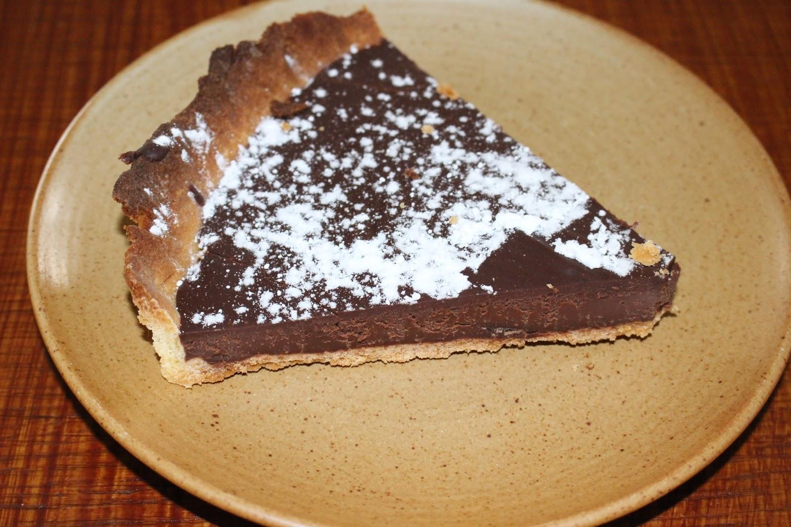 D lices d 39 une novice tarte au chocolat - Comment decorer une tarte au chocolat ...