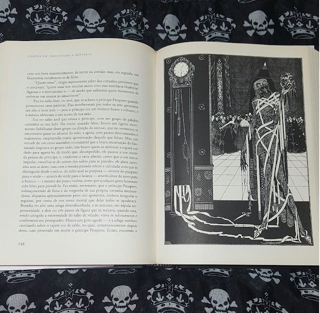 Ilustração do conto A Máscara da Morte Vermelha, de Edgar Allan Poe, por Harry Clarke