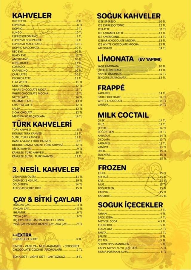 pechko moda kadikoy icecek menu