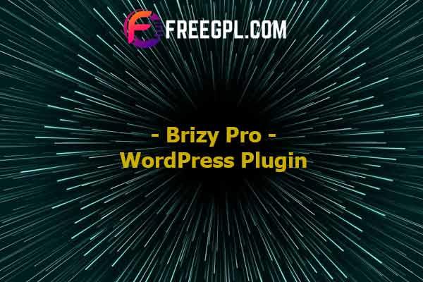 Brizy Pro – WordPress Plugin Nulled Download Free