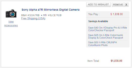 sony a7r deals discount bhphoto