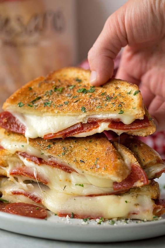 Pepperoni Pizza Grilled Cheese Recipe