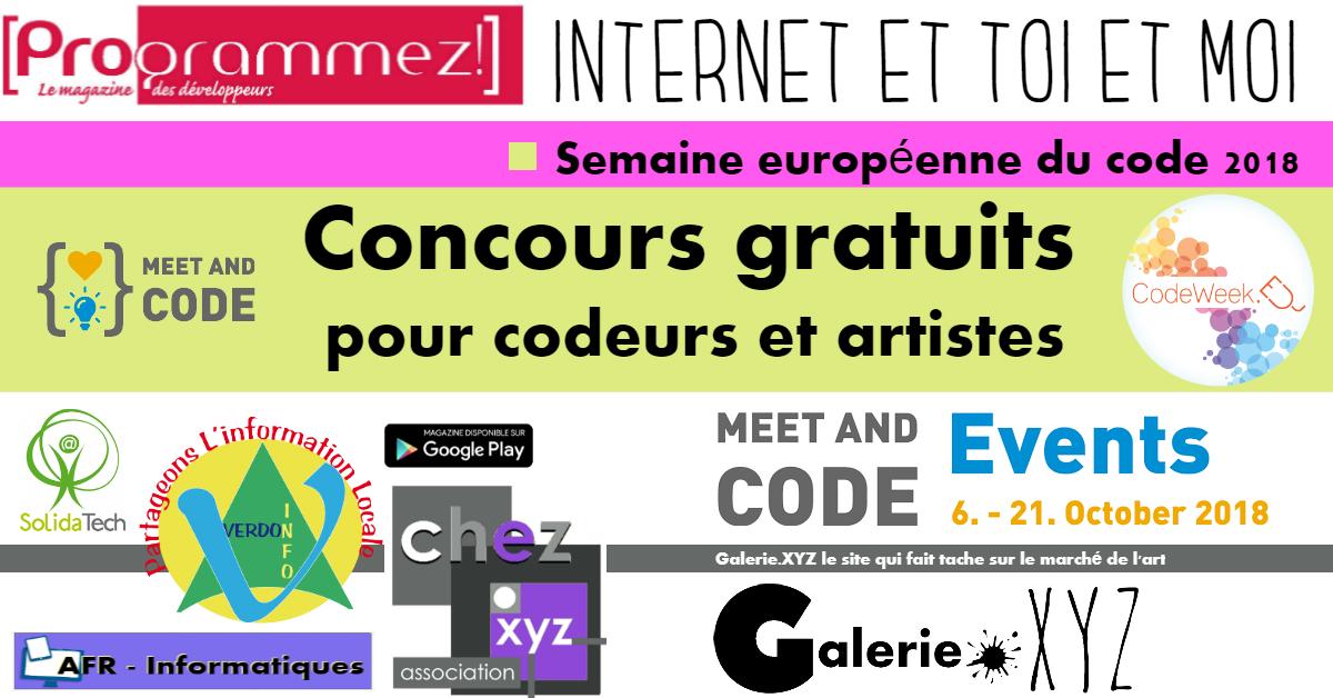 Semaine européenne du code : le concours Chez.XYZ