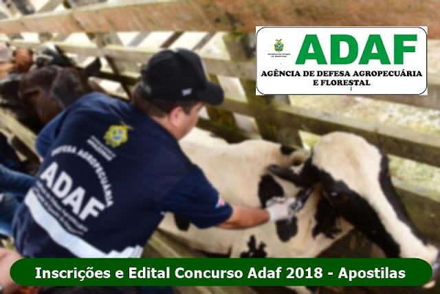 Apostilas Concurso Adaf AM - Inscrições e Edital 2018
