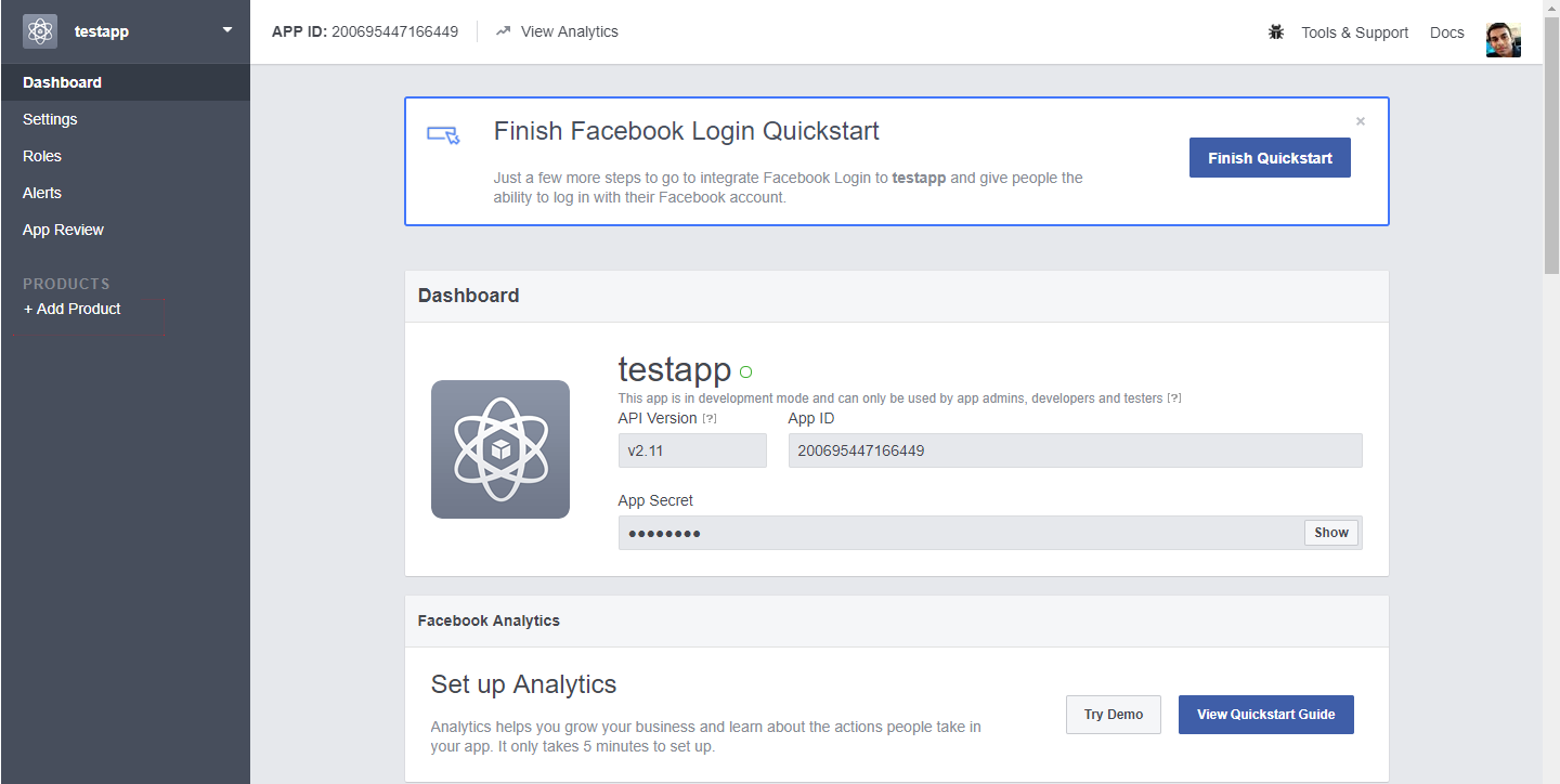 golang oauth2 facebook example