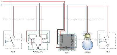 Cara membuat saklar listrik staircase dari relay dan timer wiring diagram desain saklar staircase asfbconference2016 Image collections
