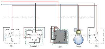 Cara membuat saklar listrik staircase dari relay dan timer listrik wiring diagram desain saklar staircase swarovskicordoba Choice Image