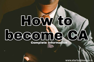 How to become CA in India - Startup ideas