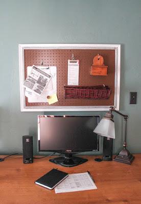 DIY bulletin board and pegboard