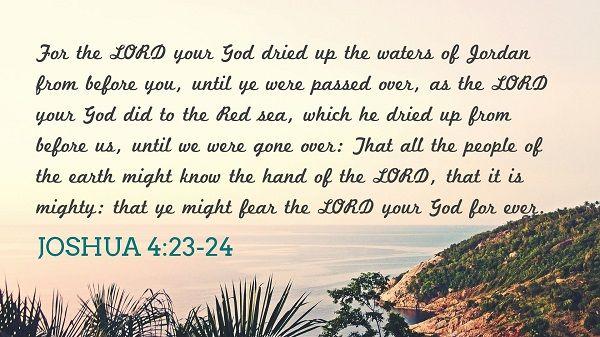 Joshua 4:23-24