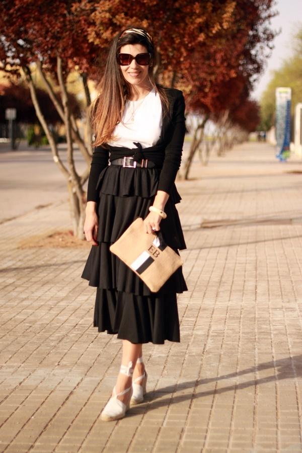 Falda volantes, look volantes, moda flamenca