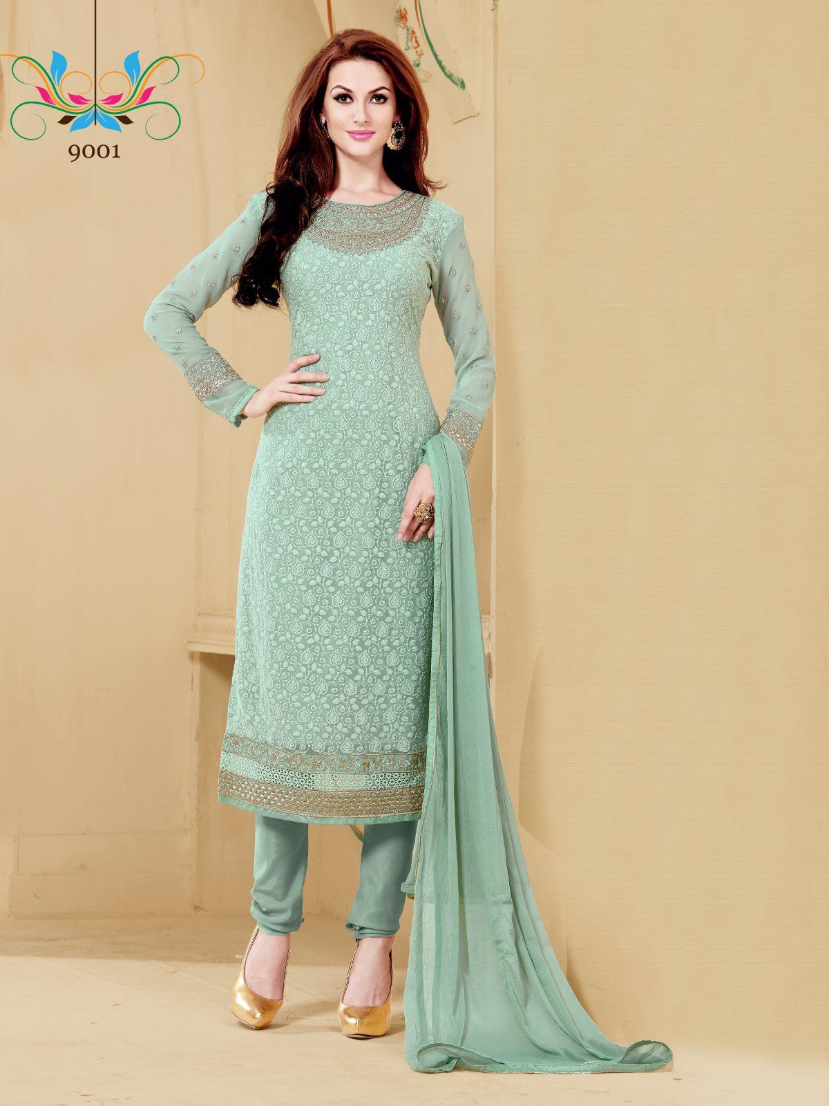 P 9 – Beautiful Looking Designer Embroidered Salwar Suit