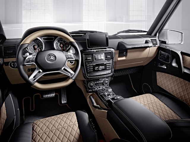 Mercedes Benz G Class 2 tone Quilted Leather Interior