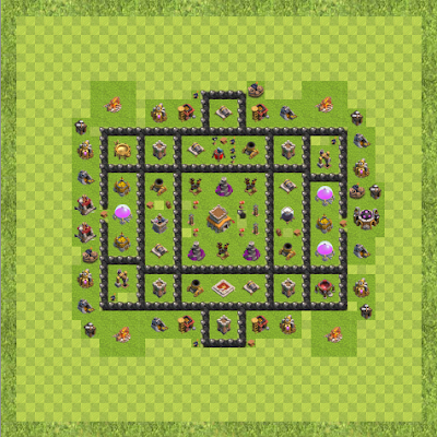 War Base Town Hall Level 8 By hrvatino (l30n TH 8 Layout)