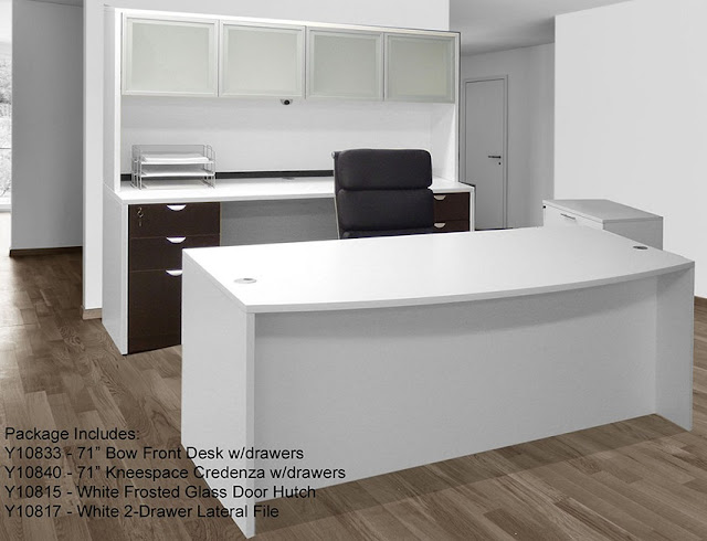best buy modern white office furniture collections for sale