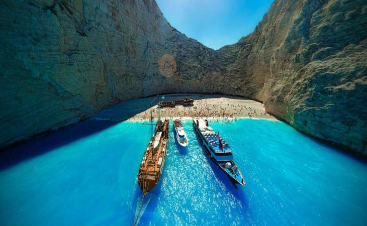 See the most significant natural sights of Zante on the hall-day boat trip.