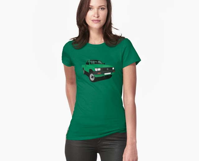 toyota hilux pickup green t-shirt for her