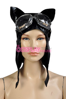 Steampunk Catwoman cowl mask hat