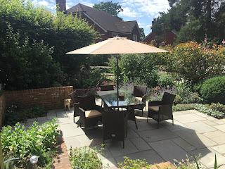 Warm, sunny patio area