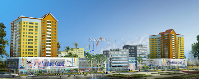 3D  Township Project Rendering In Amsterdam