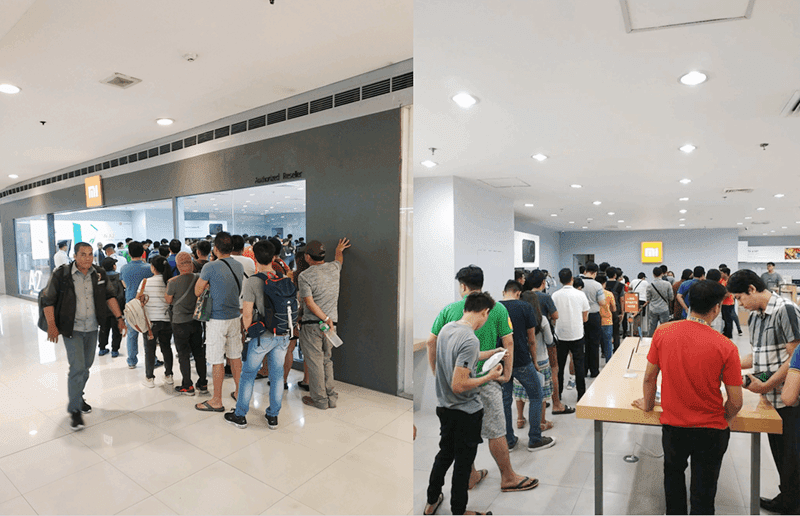 People lined up for the Redmi Note 7