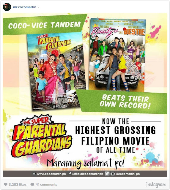 Vice Ganda And Coco Martin Defeat Their Own Record As Highest Grossing Film On The Local Box Office!