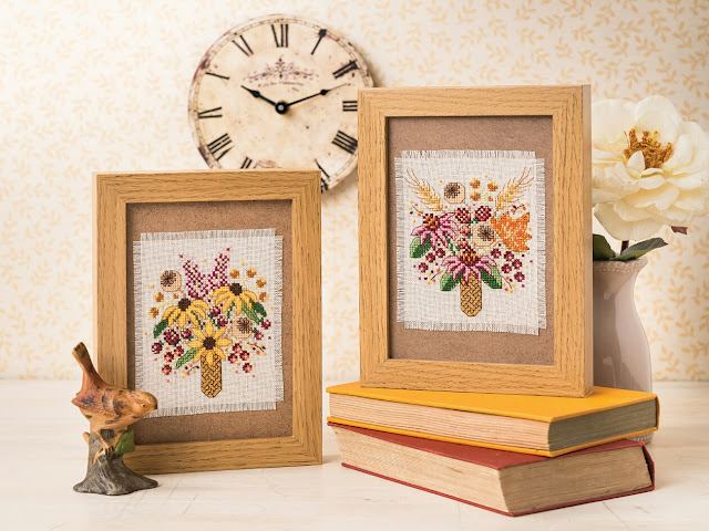 Autumn Posies for The World of Cross Stitching Magazine