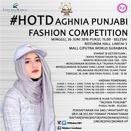Event Hijaber Surabaya Aghnia Punjabi Fashion Competition
