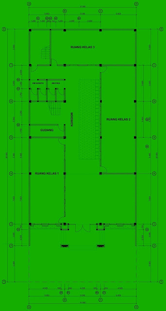Desain Sekolah Tahfidz Qur'an - Denah Bangunan