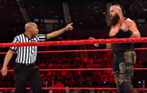 Referee Warning Braun Strowman