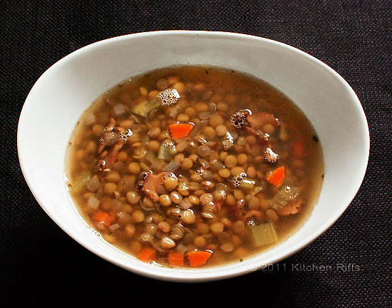 Lentil Soup with Bacon and Rosemary