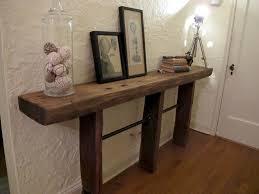 Viga de madera reciclada para hacer un mueble