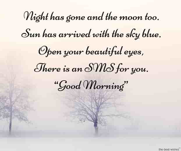morning romantic sms with beautiful nature