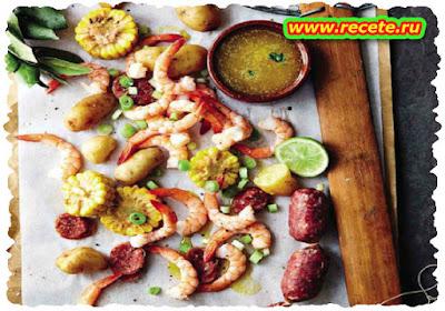Creole prawn pot
