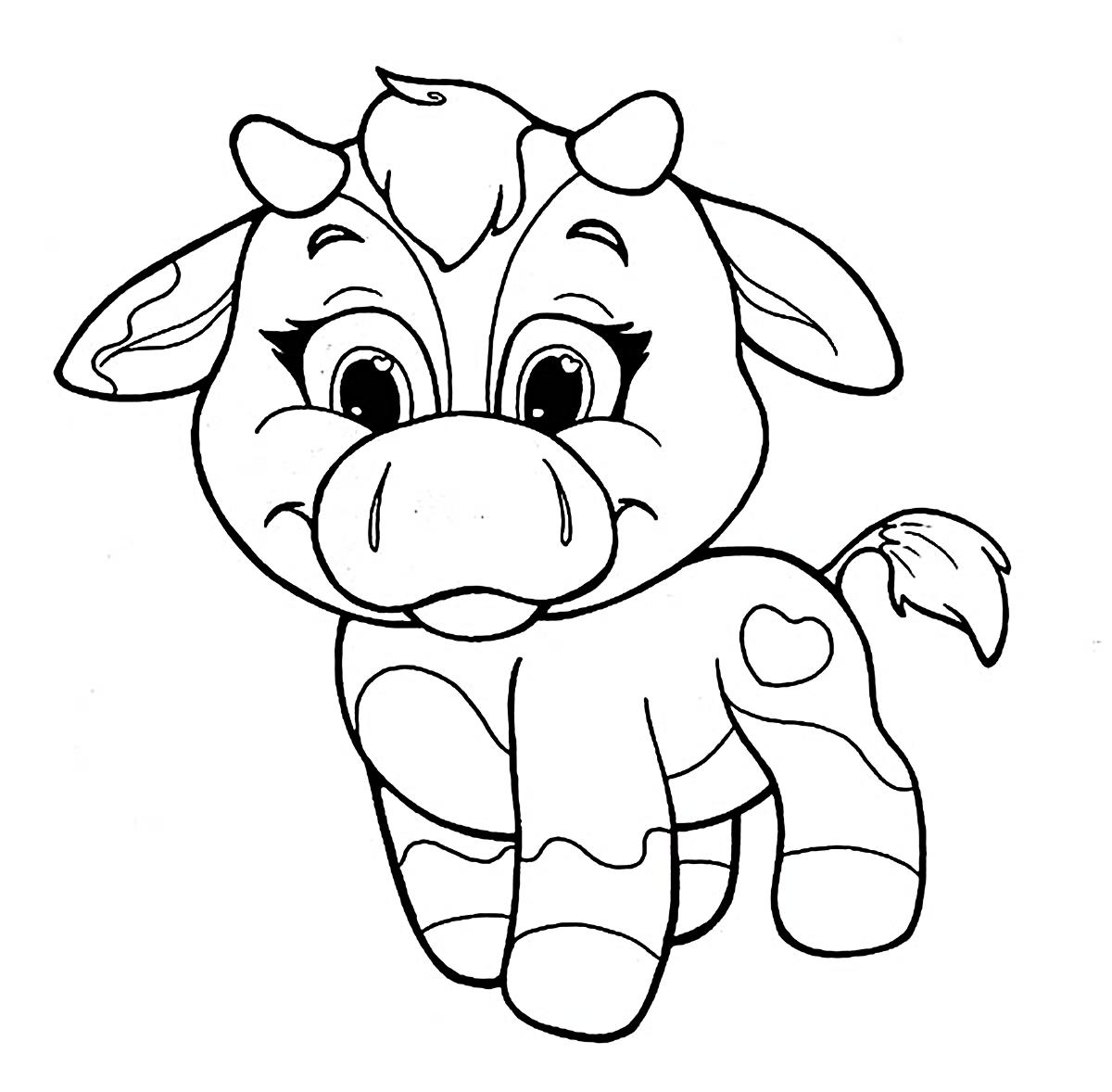 coloring pages of baby cows | Riscos graciosos (Cute Drawings): Riscos de vaquinhas (Cows)