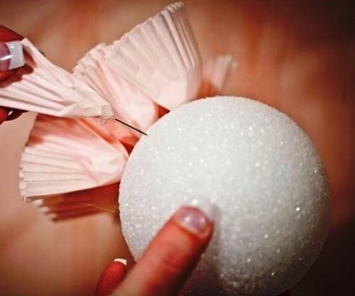 Cara Membuat Kerajinan Tangan Dari Kertas, Bunga Kertas Kue 5