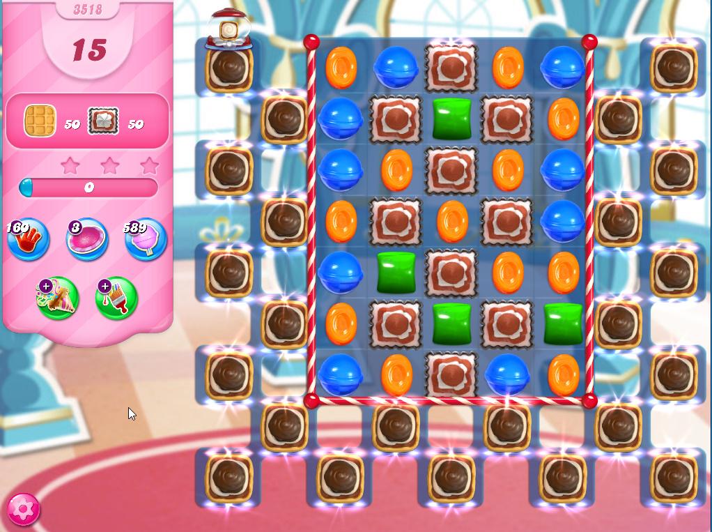 Candy Crush Saga level 3518
