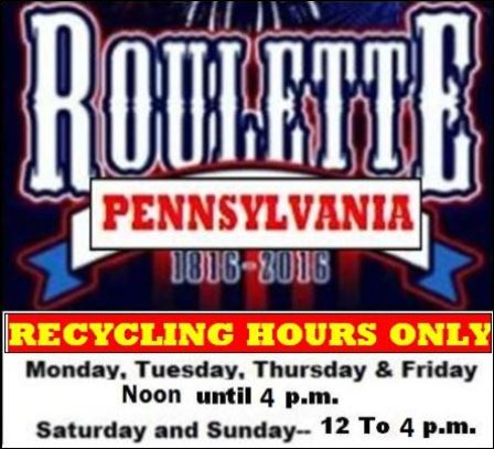 NEW Hours for Recycling Only