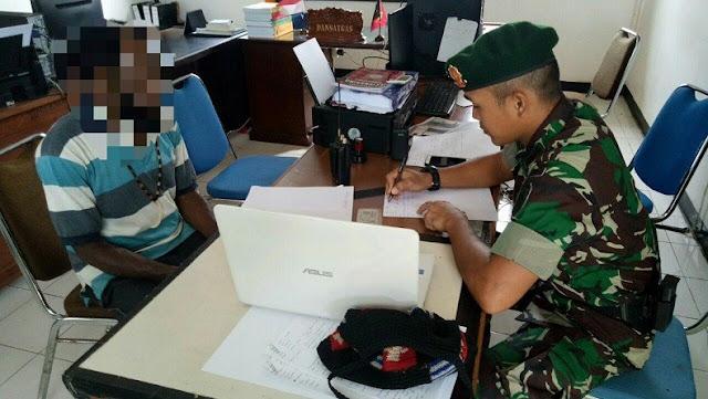 6 Anggota TRWP Diamankan Satgas Pamtas Yonif 328/K