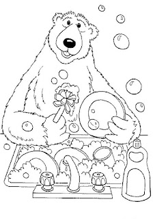Ausmalbilder Braunbär zum Ausdrucken