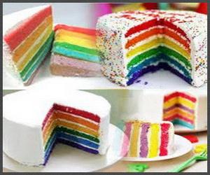 Rainbow Cake - kue pelangi