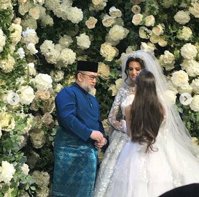 Gambar kahwin Yang diPertuan Agong