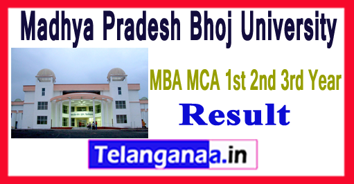 Madhya Pradesh Bhoj University MBA MCA 1st 2nd 3rd Year Result 2018