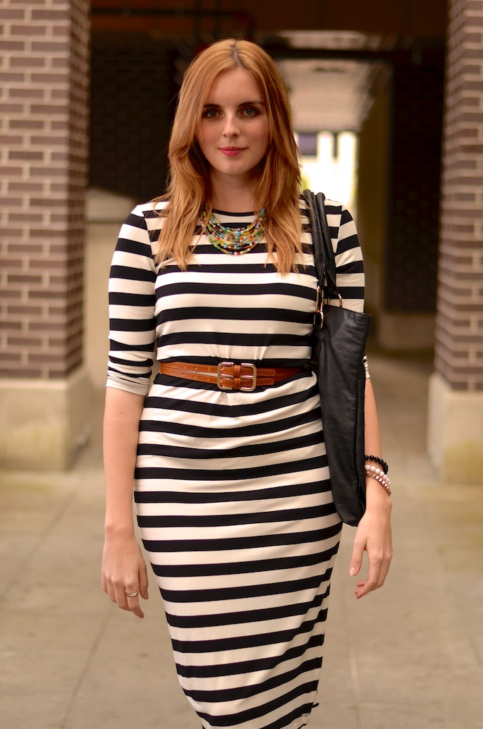 Cute Jersey Striped Dress