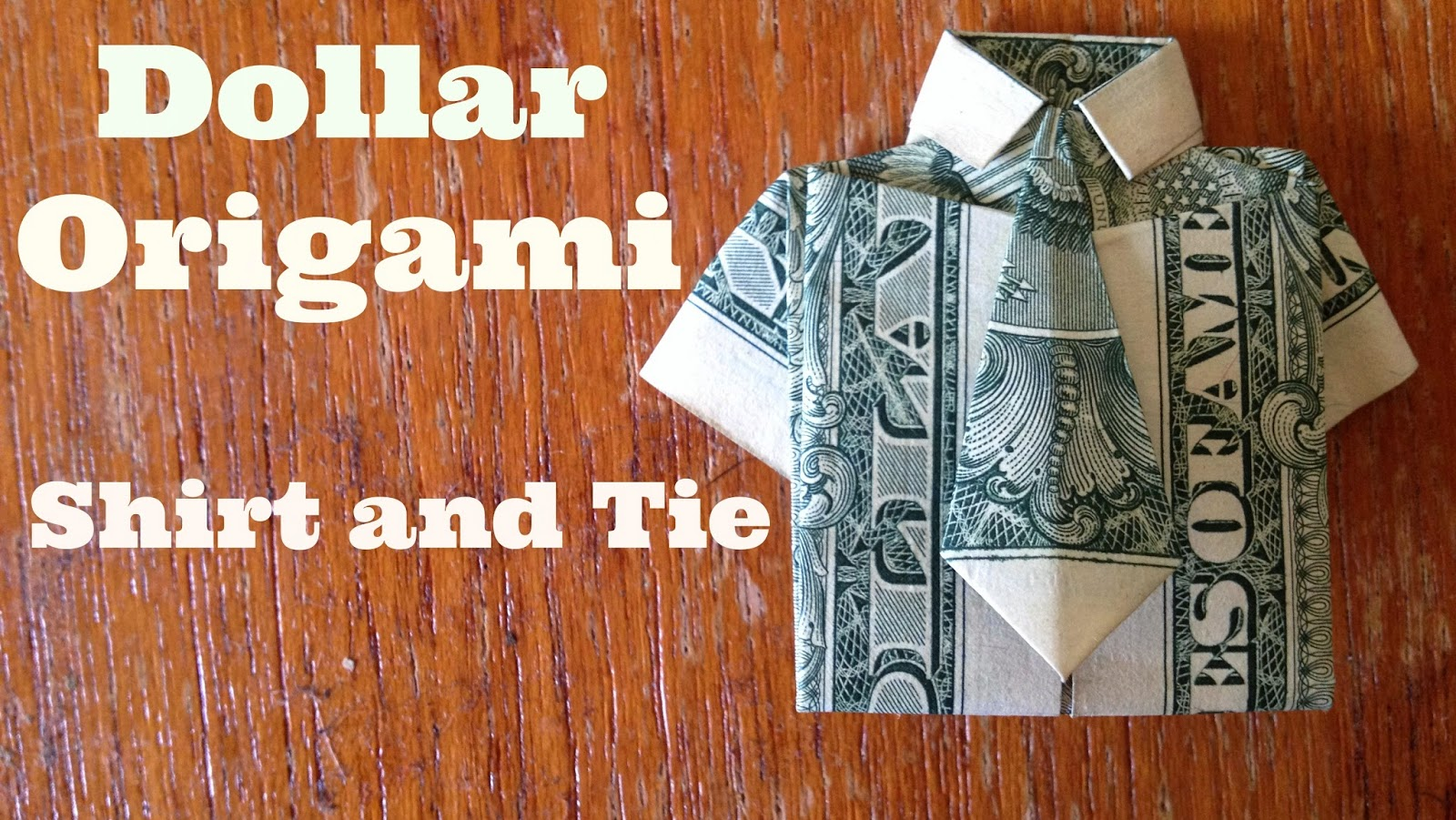 Dollar Bill Origami: Shirt and Tie | The Best Hobbies Blog - photo#31