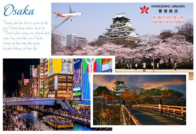 Vé máy bay du lịch Osaka Nhật Bản